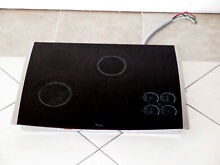 WHIRLPOOL GOLD SERIES GJC3055RS04 30  TOUCH CONTROL ELECTRIC COOKTOP BLACK