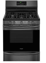 Frigidaire FGGF3059TD 30  Gas Range w Convection Oven Black Stainless