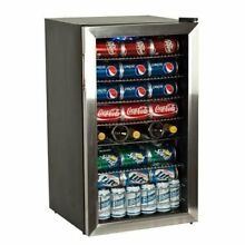 EdgeStar BWC120SS 103 Can and 5 Bottle Extreme Cool Beverage Cooler   Stainless