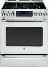 GE Cafe 30  W Electric Slide In Convection Range w  Baking Drawer CS980STSS  NEW