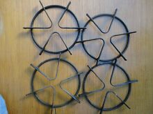 Gas Range Burner  4 GRATES Round Black Stove Top Oven Cast Iron 71 8