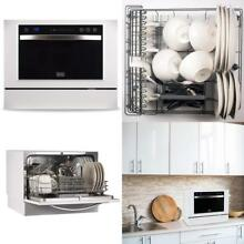 Portable Countertop Dishwasher 6 Place Setting 7 Wash Programs LED Display Touch