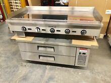 60  Chef Base 60  Flat Griddle Chrome  Package Breakfast Drawer Refrigerator