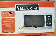 Magic Chef 1 3 cu  ft  Countertop Microwave Oven Stainless Steel Front  BB