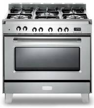 36  Verona Classic Pro Style Dual Fuel Gas Range Model   VCLFSGE365SS