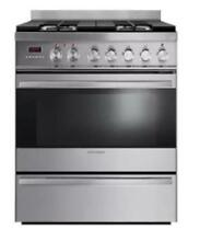 Fisher   Paykel OR30SDPWGX1 30 Inch Freestanding Dual Fuel Range Stainless Steel