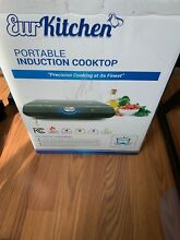 Safe and Powerful Portable Induction Cooktop Burner w Cloth Bag by EurKitchen