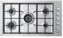Fisher   Paykel CG365DWLPACX2 36 Inch Liquid Propane Cooktop in Stainless Steel