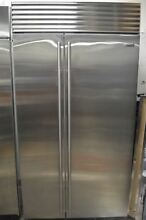 Sub Zero 42  Built In Side by Side Stainless Steel Refrigerator BI42SSTH