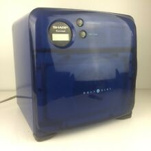 Sharp Half Pint Carousel Compact Small Microwave Oven BLUE R 120DB Dorm RV  Boat