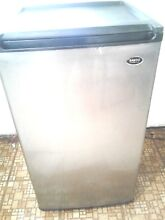 Sanyo 4 4 cubic ft Mini Refrigerator Stainless Steel Front Freezer Can Areas