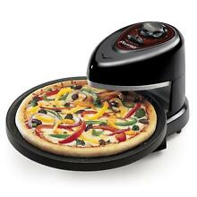 Presto Pizza Oven Electric Rotating Countertop Kitchen Pizzazz Baking Black