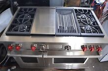 Wolf 48  Pro Style Stainless Steel Dual Fuel 4 Burner Gas Range DF484CG