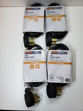 Lot of 4 Workchoice Electrical Dryer Cords 4 Prong  30 AMP 4 wire 4 ft New