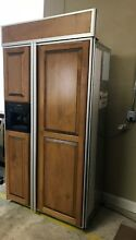 42  Wood Paneled Kitchenaid Superba Built In Refrigerator Model   KSSS42QKX00