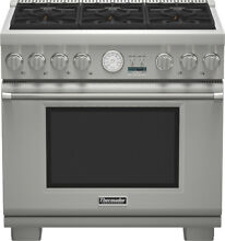 36  Thermador Stainless Pro Style Gas Range  Model  PRG366JG