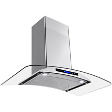 AKDY New 36  European Style Wall Mount Stainless Steel Range Hood Vent Touch 36
