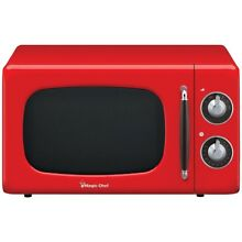 Magic Chef  7 Cubic  ft 700 watt Retro Microwave  red