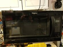 Whirlpool Over The Range Microwave   Model WMH31017HB   NEW   Never Used   Black