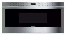 Wolf  MD30PES 30 Inch Professional Microwave Drawer Stainless Steel 950 watts