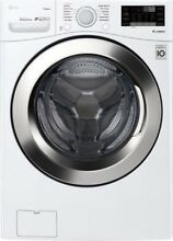 LG   4 5 Cu  Ft  12 Cycle Front Loading Smart Wi Fi Washer