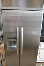 KitchenAid 36  Built In Side by Side Stainless Steel Refrigerator KSSC36QTS