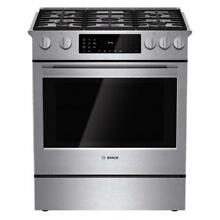 BOSCH 800 Series 30  W Dual Fuel 5 Burner Slide in Convection Range HDI8054U NEW