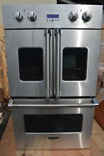 Viking 30  Stainless Steel Double Electric French Door Oven VDOF730SS