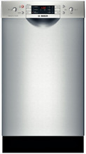 Bosch SPE5ES55UC 18 Inch Full Console Dishwasher in Stainless Steel