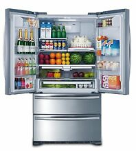 Thor Kitchen HRF3601F Cabinet Depth French Door Refrigerator in Stainless Steel