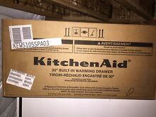 Warming drawer kitchenaid 30 inch panel ready  unused unopened in the box
