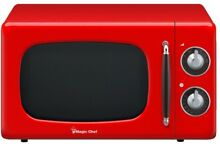 MAGIC CHEF 0 7 cu  ft  Countertop Microwave w  Variable Control Knob  Red Orange