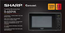 SHARP 2 2 CF 1200W COUNTERTOP MWO BLACK WHILE SUPPLIES LAST R659YK