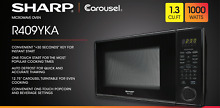 Sharp Carousel 1 3 cu   Ft  Countertop Microwave Oven  Black R409YKA