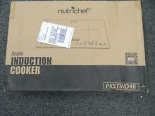 NutriChef PKSTIND48 Dual Induction Countertop 120V Cooktop w  Digital Display
