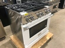 KitchenAid KDRS467VMW Dual Fuel Range with Convection Oven in Imperial White