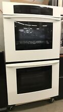 White Thermador Double Door Wall Oven with 2 Convection Fans   Self Clean