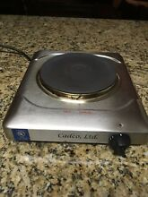 Cadco KR S2 Stainless Steel Cast Iron Electric Kitchen Range 1600 watt Hot Plate