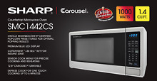 Sharp SMC1442CS Countertop Microwave Oven 1 4 cu ft  WHILE SUPPLIES LAST