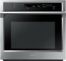 SAMSUNG 30  Wide Electric Single Steam Cook Convection Wall Oven NV51K6650SS NEW