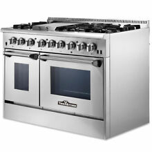 Thor Kitchen 48 Inch Professional Stainless Steel Gas Range with 6 Burners   CSA