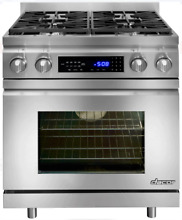 Dacor DR30DING Distinctive 30 Inch Pro Style Slide in Dual Fuel Range Stainless
