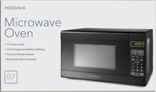 Insignia 0 7 cu  ft  Compact Microwave   700watt multi cooking system