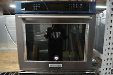 KitchenAid 30  Black Stainless Steel Single Convection Wall Oven KOSE500EBS