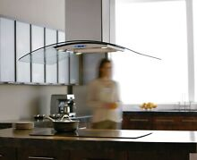 Elica ECN636S2 36  Island Chimney Hood in Stainless and Glass