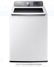 SAMSUNG 4 8 CF TL Washer E  White Top Load