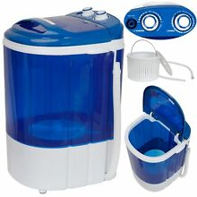 USED MINI Portable Wash Machine 9lbs Dual Knobs Timer Control Compact Laundry
