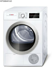 Bosch 500 Series 24 in  4 cu  ft  White Silver Accents Compact Dryer ENERGY STAR
