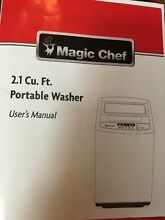 Apartment size washer 2 1 cu Ft portable washer Magic Chef   PICK UP Only
