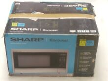 SHARP R 331ZS Carousel 1 1 CF Mid Size 1000 Watts Stainless Steel Microwave
